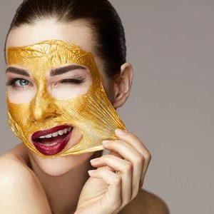ماسک صورت طلا